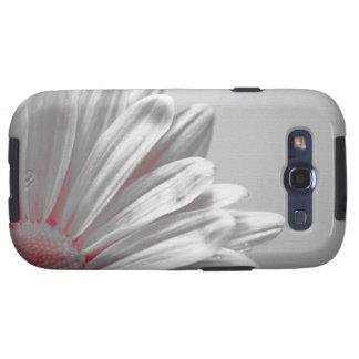 Caja floral roja del ambiente de la galaxia S3 de  Samsung Galaxy SIII Funda