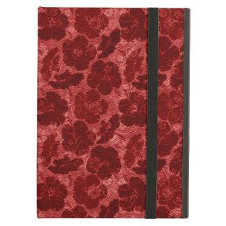 caja floral roja sucia del ipad de los powis