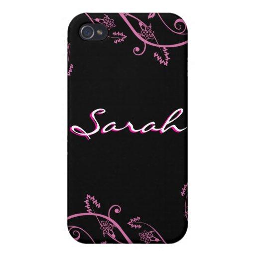 Caja floral rosada de la mota de IPhone 4 iPhone 4 Carcasa