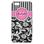 Caja floral rosada, negra, blanca del iPhone 5 de