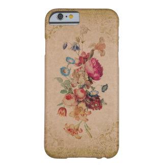 Caja floral subió vintage bonito del teléfono del funda de iPhone 6 barely there