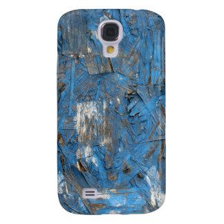 Caja formada escamas azul de la pintura funda samsung s4