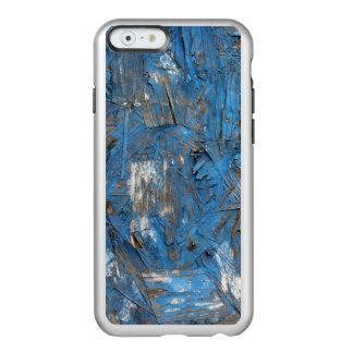 Caja formada escamas azul del iPhone de la pintura Funda Para iPhone 6 Plus Incipio Feather Shine