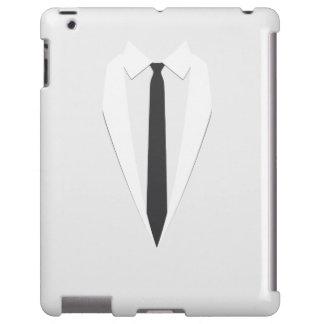 caja formal blanca del ipad 2/3/4 del lazo negro d