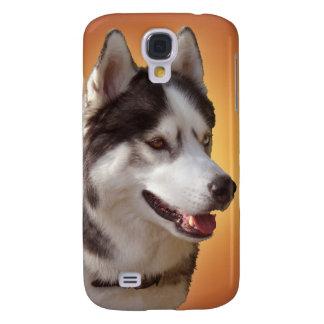 Caja fornida de los ojos del perro esquimal del pe samsung galaxy s4 cover