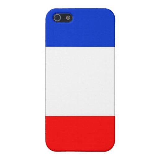 Caja francesa brillante de la mota de la bandera iPhone 5 carcasas
