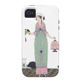 Caja francesa de la placa de moda de Martin del ar iPhone 4 Funda