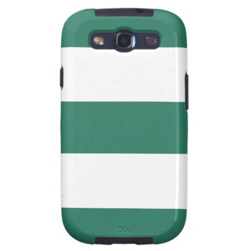 Caja fresca de la galaxia de Samsung del verde y d Samsung Galaxy S3 Protector