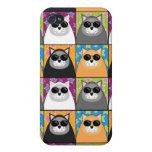Caja fresca de la mota del gato iPhone 4 protectores