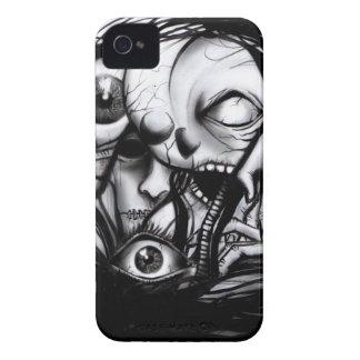 Caja fresca de los cráneos y de Gore Iphone iPhone 4 Carcasas