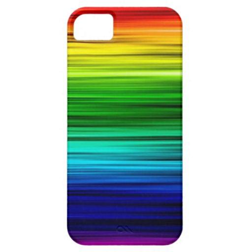 Caja fresca del arco iris funda para iPhone 5 barely there