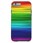 Caja fresca del arco iris funda para iPhone 6 tough