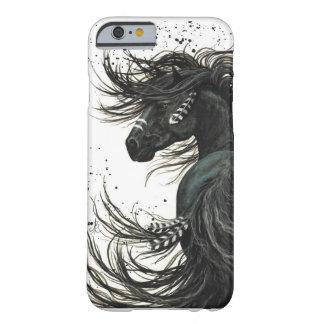 Caja frisia negra del iPhone 6 del caballo Funda Barely There iPhone 6