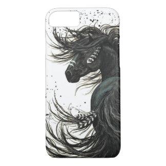 Caja frisia negra del iPhone 7 del caballo Funda iPhone 7