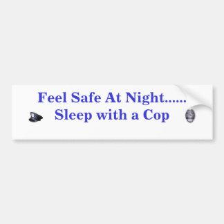 Caja fuerte de la sensación en la noche… pegatina de parachoque