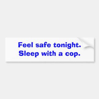 Caja fuerte de la sensación esta noche Sueño con Etiqueta De Parachoque