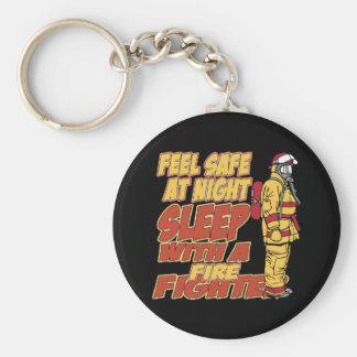 Caja fuerte de la sensación, sueño con un bombero llavero redondo tipo pin