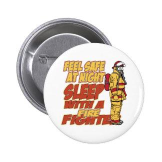 Caja fuerte de la sensación, sueño con un bombero pin redondo 5 cm