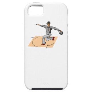 Caja fuerte del árbitro del béisbol iPhone 5 Case-Mate protectores