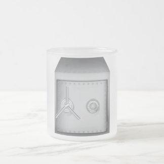 Caja fuerte del banco taza de café esmerilada