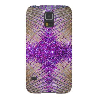 Caja futurista chispeante de la galaxia de Samsung Carcasas De Galaxy S5