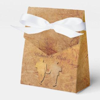 Caja gay del favor del boda de la textura del paquetes para detalles de bodas