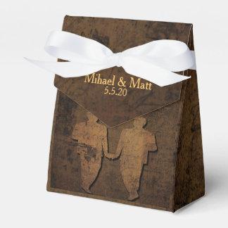 Caja gay del favor del boda del guión legendario paquetes de regalo para fiestas