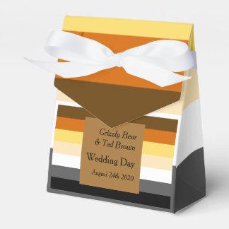Caja gay del favor del boda del oro de la bandera paquetes para detalles de bodas