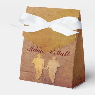 Caja gay rústica roja del favor del boda paquetes de regalo