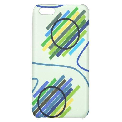 Caja geométrica azul de IPhone