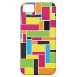 Caja geométrica coloreada multi del iPhone 5 del iPhone 5 Case-Mate Carcasa