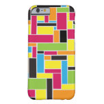 Caja geométrica coloreada multi del iPhone 6 del Funda De iPhone 6 Barely There