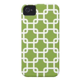 Caja geométrica de los cuadrados el   IPhone 4 iPhone 4 Coberturas