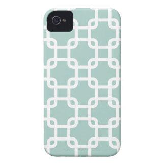 Caja geométrica de los cuadrados el   IPhone 4 iPhone 4 Cobertura