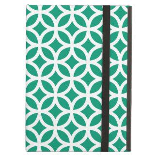 Caja geométrica del aire del iPad del verde esmera