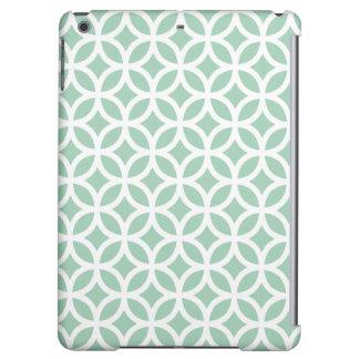Caja geométrica del aire del iPad en verde del Hem