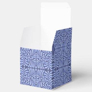 Caja geométrica del favor del helecho azul cajas para regalos de boda