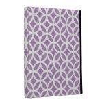 Caja geométrica púrpura del iPad