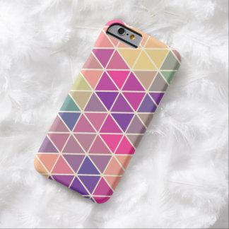 Caja geométrica retra colorida del iPhone 6 del Funda De iPhone 6 Barely There