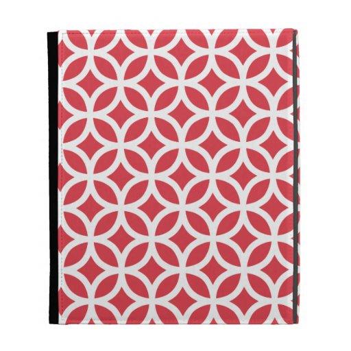 Caja geométrica roja del iPad de la amapola