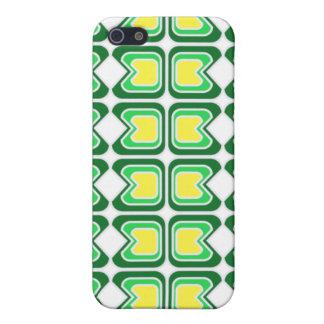 Caja geométrica verde de IPhone iPhone 5 Carcasas