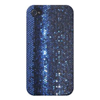 Caja girrly cristalina brillante azul del iPhone iPhone 4/4S Fundas