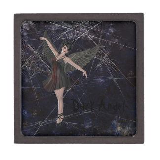 Caja gótica de la baratija del ángel oscuro cajas de joyas de calidad
