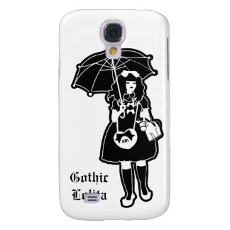 Caja gótica negra del teléfono de Lolita