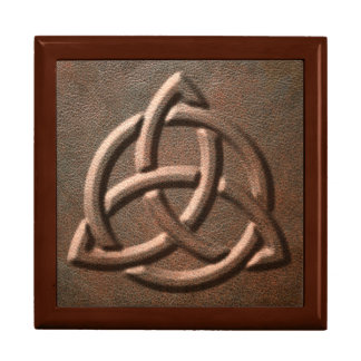Caja grabada en relieve cuero de la baratija del n joyero cuadrado grande