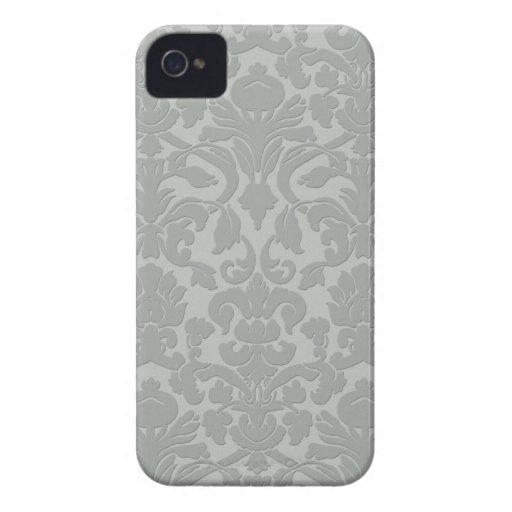 Caja grabada en relieve sutil gris de Iphone 4/4S iPhone 4 Case-Mate Coberturas