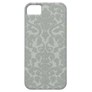 Caja grabada en relieve sutil gris del iPhone 5 de iPhone 5 Case-Mate Protectores