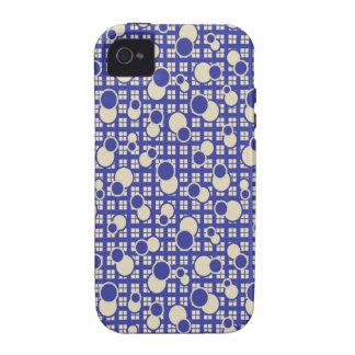 Caja gráfica azul del iPhone 4 del vintage Funda Case-Mate Para iPhone 4