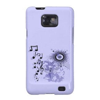 Caja gráfica de la galaxia de Samsung de la música Carcasa Para Samsung Galaxy S2