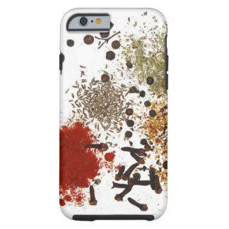 Caja gráfica de las especias del foodie del top de funda de iPhone 6 tough